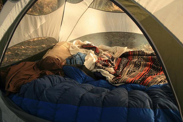 с палаткой в крыму 2016