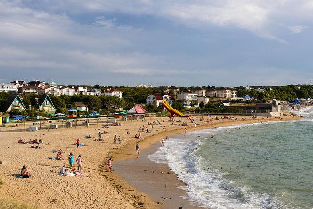 крым песчаный пляж отдых с детьми