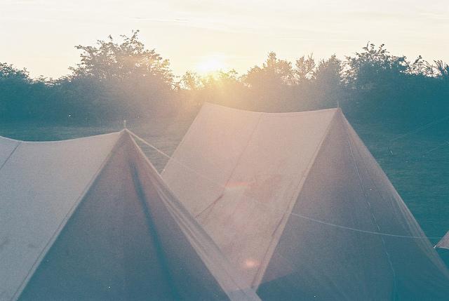 в крым с палаткой на машине